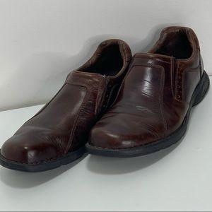 Merrell ortholite leather loafer